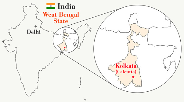 map-india-kolkata